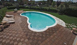 Pavimentazioni e luci piscina
