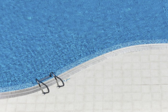 Aerial view of Swimming Pool.